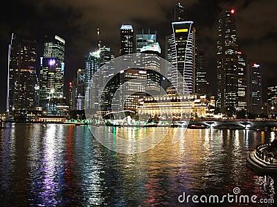 Colourful cityscape at Marina Bay