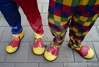 Colourful Clown Feet