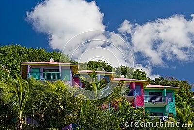 Colourful condo villas