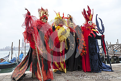 Colourful Costumes Editorial Stock Image