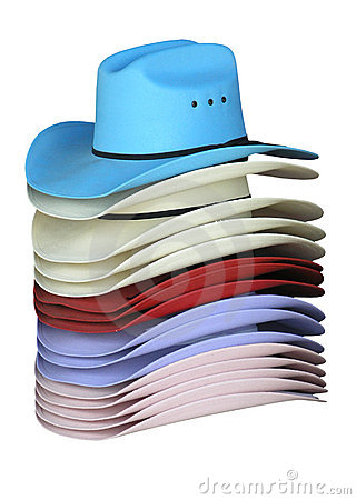 Free Colourful Cowgirl Hats Stock Photography - 2971502