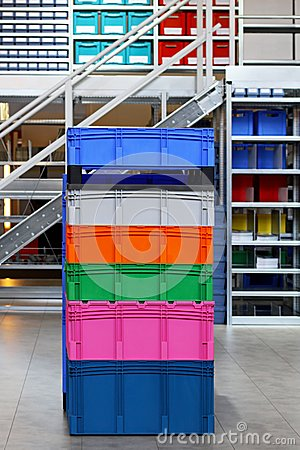 Colourful crates
