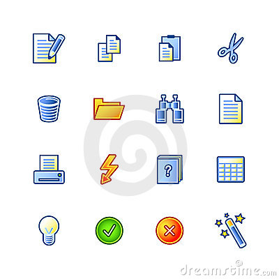 Colourful document icons