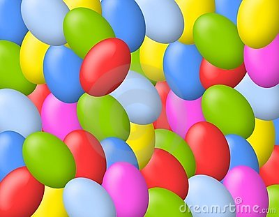 Colourful Easter Eggs Background
