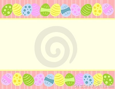 Colourful Easter Eggs Borders