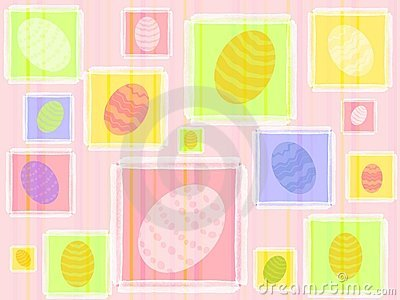 Colourful Easter Eggs Pattern Background