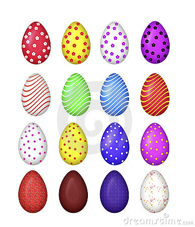 Free Colourful Eggs Vector Royalty Free Stock Photography - 13485367