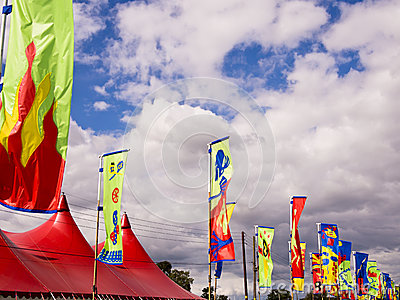 Colourful Festival Flags