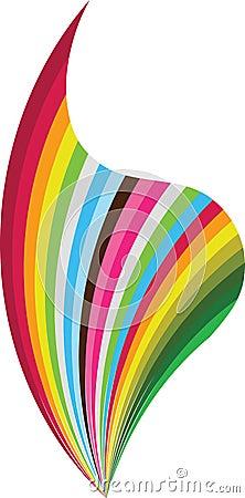 Colourful flame logo