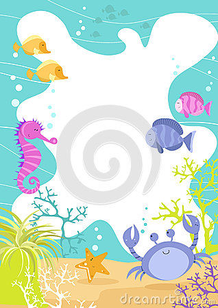 Sea Creature Fun Border