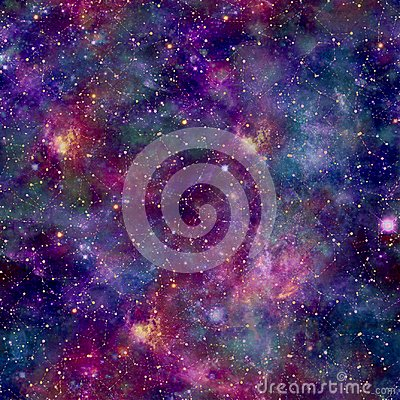 Free Colourful Galaxy Cosmos Print With Constellation Overlay Royalty Free Stock Photos - 112881258