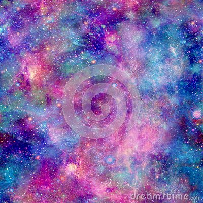 Free Colourful Galaxy Cosmos Print With Pink Blue And Purple Stock Image - 112881191