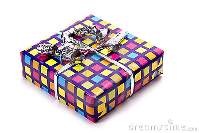 Colourful gift.
