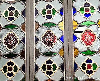 Colourful glass window