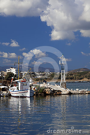 Colourful greek fishing boat