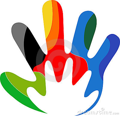 Free Colourful Hand Logo Royalty Free Stock Images - 20068769