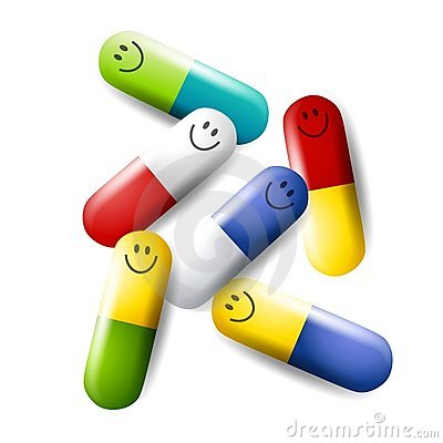 Colourful Happy Pills Medications Royalty Free Stock Photos - Image: 4148928