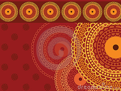 Colourful henna mandala background