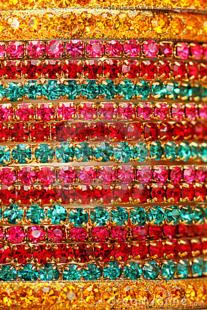 Free Colourful Indian Bangles. Stock Photography - 12629622