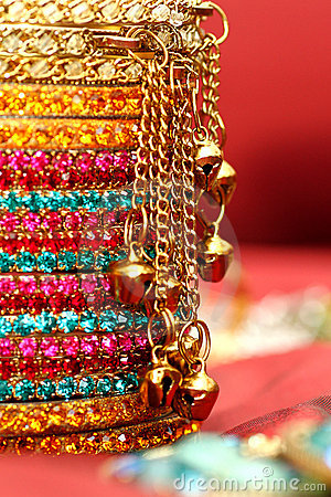 Free Colourful Indian Bangles. Stock Photo - 12651410
