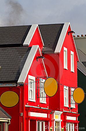Colourful irish architecture