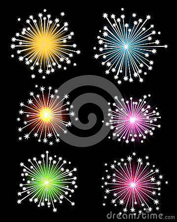 Colourful Isolated Fireworks