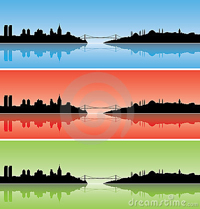 Free Colourful Istanbul Silhouettes Royalty Free Stock Image - 6014856