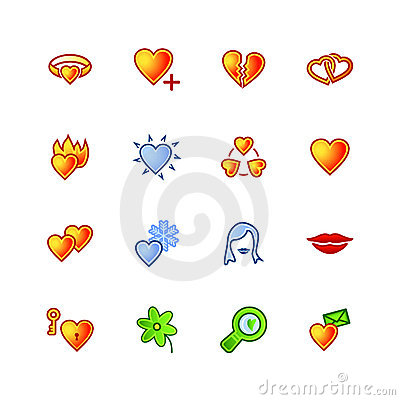 Colourful love icons