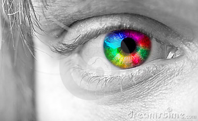 Colourful man s Eye