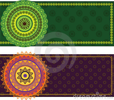 Colourful Mandala Banner with Border