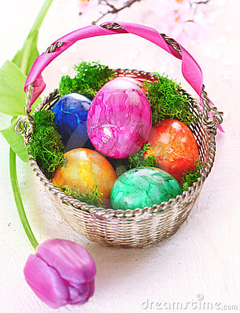 Colourful Marbles Easter Eggs