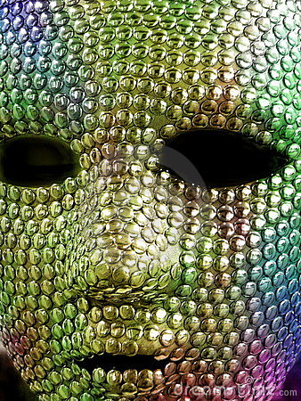 Colourful metal mask