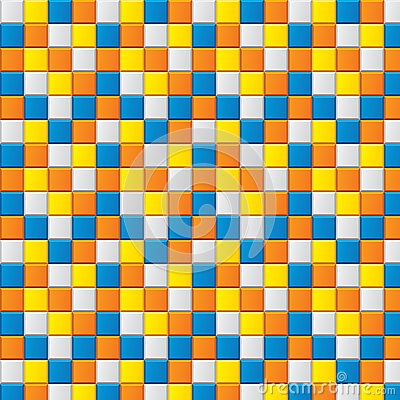 Colourful mosaic with four colored squares