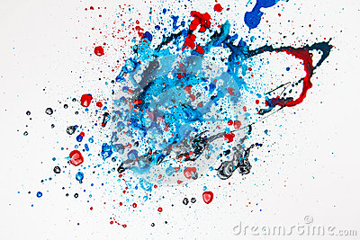 Colourful Paint Splashes