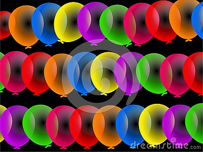Colourful Party Balloons