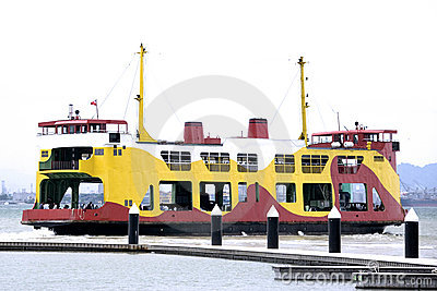 Colourful Passenger & Car Ferry