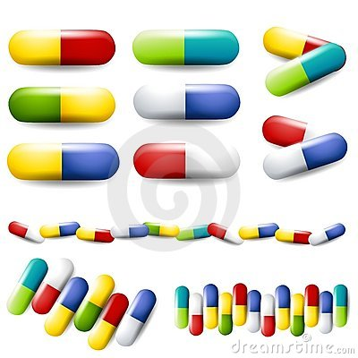 Colourful Pills Drugs Medication