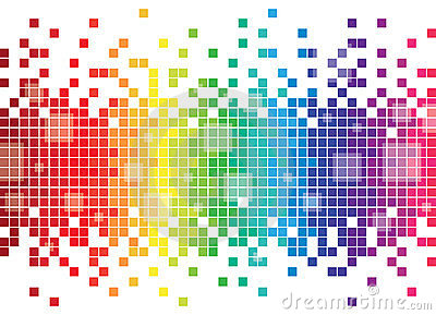Colourful Pixel Background