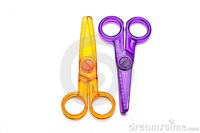 Colourful Plastic Scissors