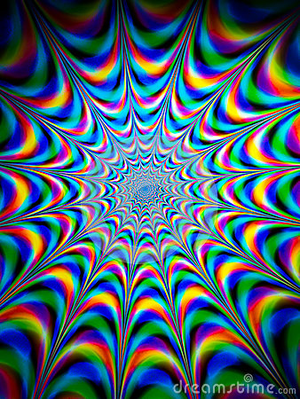 Free Colourful Psychedelic Pattern Stock Photography - 78437892
