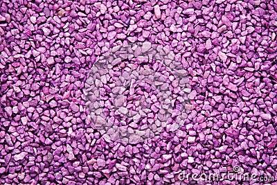 Colourful purple gravel