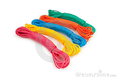 Colourful rope isolated on the white