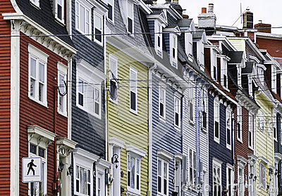 Colourful row houses