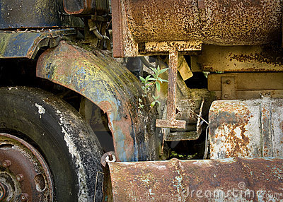 Colourful, rusty, abandoned lorry
