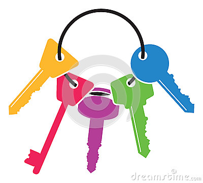 Free Colourful Set Of Keys Stock Photography - 46993042