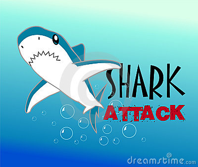 A Colourful Shark Vector Illustration