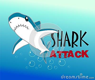 A Colourful Shark Vector Illustration