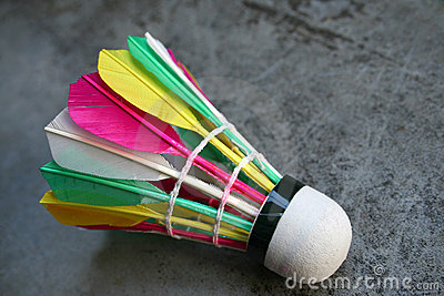 Colourful Shuttlecock