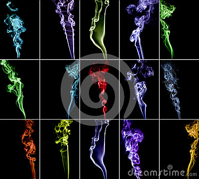 Colourful smoke collection 2