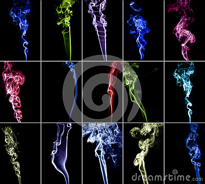 Colourful smoke collection 3